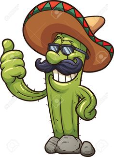 Buy Mexican Cactus by memoangeles on GraphicRiver. Vector clip art illustration with simple gradients. Graffiti Doodles, Graffiti Cartoons, Graffiti Characters, Cartoon Kunst, Cartoon Drawings, Cartoon Art, Cactus Drawing, Cactus Painting, Cactus Cartoon