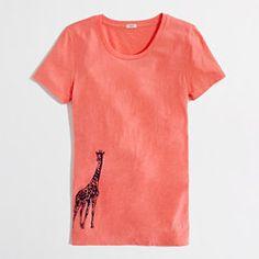 Factory giraffe graphic tee