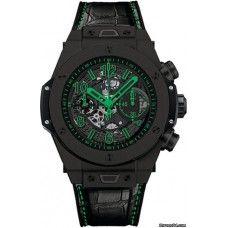 HUBLOT [NEW] Big Bang Unico Green Black Ceramic 411.CI.1190.LR.ABG14 (Retail:EUR 20.100) ~ List Price HK$118,800