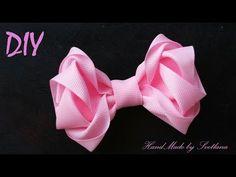 Бант 3D из атласной ленты МК/ DIY 3D bow of ribbon/ PAP Arco de fita 3d. Tutorial - YouTube