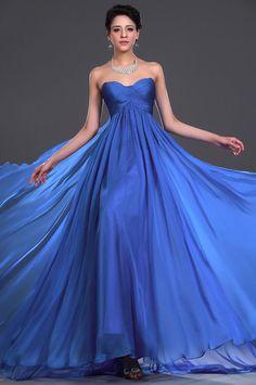 2014 New Fashion Elegant Chiffon Bridesmaid Evening Formal Ball Gown Prom Dress #blue