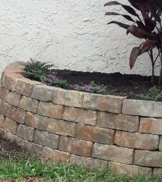 Easily make a raised flowerbed or garden with pavers and liquid nails! Click photo to see more.