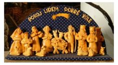Creche,made from Vizovice dough for baking. Vizovice-city in the Czech Republic. Christmas Carol, Czech Republic, Gifts For Kids, Bakery, Stuffed Mushrooms, Projects To Try, Traditional, Chicken, Vegetables