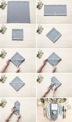 Table Setting Tips: 3 Menu Napkin Folds