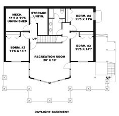 Bungalow Contemporary Cottage Traditional Lower Level of Plan 85242