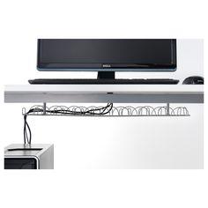 IKEA - SIGNUM, Kábelvezető vízszintes, Összegyűjti a villany- és számítógép vezetékeket; könnyű rendben tartani a munkahelyet.