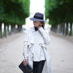 "Margo And Me's Paris Packing List | ""Menswear is a must in Paris! A vintage-inspired hat like this Maison Michel one is my go-to for a day touring the city."""