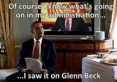 I saw it on Glenn Beck