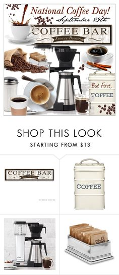 """""""National Coffee Day!  September 29th"""" by calamity-jane-always ❤ liked on Polyvore featuring interior, interiors, interior design, home, home decor, interior decorating, Technivorm, Match, homedecor and homeset"""