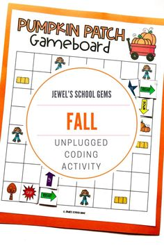 SEASONAL Unplugged Coding Activities (Fall/Autumn Coding Unplugged Activities) by Jewel's School Gems | Looking for seasonal unplugged coding activities for kids from kindergarten to 2nd grade? This product contains fall-themed unplugged coding printables that will make learning programming fun and develop students' skills in coding, such as problem solving and critical thinking, as well as collaboration and communication skills. Click to see it on TpT.