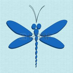 dragonfly: Blue vect