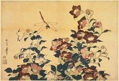 Bluebells andDragonflies by Katsushika Hokusai. Ukiyo-e. flower painting. Guimet Museum, Paris, France