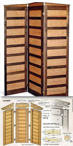 Room Divider Plan - Woodworking Plans and Projects | WoodArchivist.com
