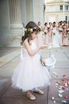Classic adorable flower girl: http://www.stylemepretty.com/delaware-weddings/wilmington-de/2015/11/19/unique-upsacle-ballroom-wedding-in-delaware/   Photography: MK Photo - http://www.mkphoto.com/blog/