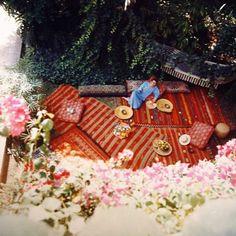 Yves Saint Laurent in his Marrakech home  Majorelle Gardens.