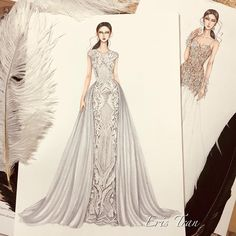 Are you ready for getting married 👰? Dress Design Drawing, Dress Design Sketches, Fashion Design Sketchbook, Dress Drawing, Fashion Design Drawings, Fashion Sketches, Drawing Sketches, Fashion Drawing Dresses, Fashion Illustration Dresses