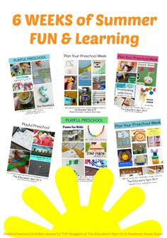 6 Weeks of Summer Fun and Learning: ages 3-5 #playfulpreschool