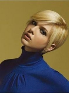New Arrival Carefree Short Straight Ligght Blonde Human Hair Lace Wig       Original Price: $220.00 Latest Price: $150.39