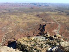 At the top of the Moki Dugway looking over the valley of the gods