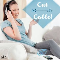 Now listen to your #music anywhere in the house, take a call from upstairs when your phone is downstairs and even sync up with your TV or computer with #STK BTHS800 #Groovez #Bluetooth #Headphones!