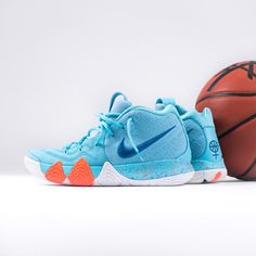 POWER IS FEMALE! This summerly Kyrie 4 holds a powerful message and sees a mix of light aqua and neo turquoise along its upper. Finally available on kickz.com!