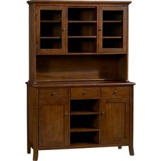Cabria II Honey Brown Buffet With Hutch Top In Dining Kitchen Storage