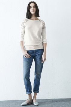 Check out this Crochet Shoulder Jumper from Warehouse.