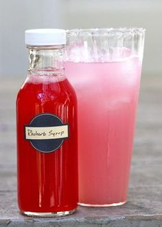 Recipe:  Rhubarb Syrup   Pantry Recipes from The Kitchn