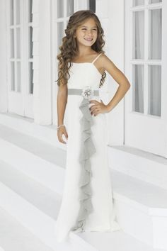 Charmeuse Ruffles Straps Style 46 Junior Bridesmaid Dress By Alexia Designs S Dresses