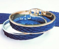 cobalt Blue salmon Leather Bracelets www.Bandhu.eu