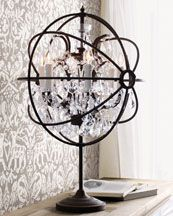 Gyro table chandelier, Horchow.