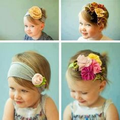 These little girls hair accessories are super cute!