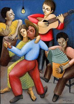 #dança. Quem aí nunca se viu balançando o pé ou a cabeça involuntariamente enquanto ouvia uma boa música gauchesca ou forró? O ritmo dançante, a alegria e as letras únicas tornaram estes dois ritmos musicais uma marca do Brasil.