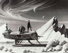 Ralph McQuarrie painting of the earlier Battlestar Galactica Viper (publicity still)