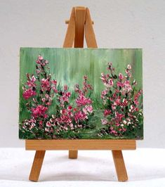 Flower Garden In Bloom 3x4 original oil painting by valdasfineart