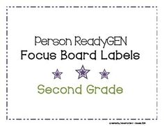 Looking for labels to start or spruce up your Ready GEN focus bulletin board? Included in this pack are focus board labels and ReadyGEN pennants to make a classy title for your bulletin board. ReadyGEN is a new ELA curriculum being used in public schools. These labels are classroom tested. They are also cute and printer friendly.