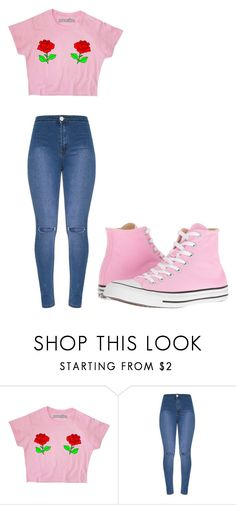 """Untitled #297"" by thenerdyfairy on Polyvore featuring Converse"