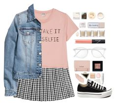 """DIY"" by for-the-love-of-pink ❤ liked on Polyvore featuring Monki, H&M, NARS Cosmetics, Converse, Shabby Chic, Herbivore Botanicals, Korres, RetroSuperFuture, GUESS and Chanel"
