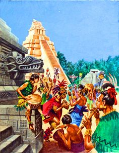 Celebrations at a Mayan Temple