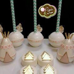 Teepee cake pops and treats