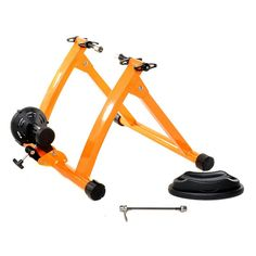 Gavin Indoor Bike Trainer Exercise Stand, Orange - Easy to use, works great.When you need new cycling accessories, you're naturally looking for the best bike tr Cycle Trainer, Indoor Bike Trainer, Bicycle Workout, Cool Bike Accessories, Cycling Bikes, Cool Bikes, No Equipment Workout, Fitness Equipment, Trainers
