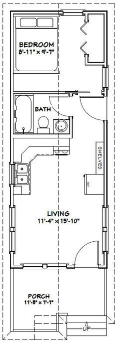 12x32 Tiny House -- #12X32H1 -- 384 sq ft - Excellent Floor Plans