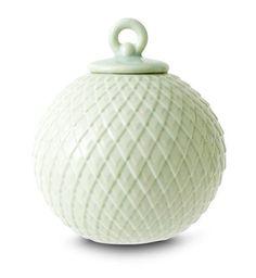 Lyngby Porcelæn - Rhombe kugle grøn
