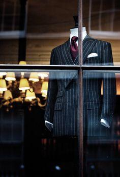 the-suit-men: Anderson & Sheppard Source:. Best Suits For Men, Cool Suits, Mens Suits, Suit Men, Sharp Dressed Man, Well Dressed Men, Suit Combinations, Smart Outfit, Bespoke Tailoring