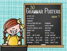 the BRAINY BUNCH Theme Classroom Decor / Grammar Posters / Grade 1 / Language Arts / Scott Foresman Grammar and Writing Practice Book /ARTrageous Fun