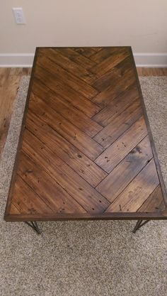 DIY Herringbone Coffee Table - Imgur: The most awesome images on the Internet. & 160+ Best Coffee Tables Ideas | Balay | Pinterest | Home Diy coffee ...