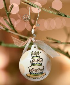 This Wedding Cake Ball Ornament by  is perfect! #zulilyfinds