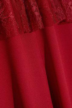 Philosophy di Lorenzo Serafini - Lace-paneled Crepe Mini Dress - Red - IT38