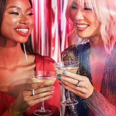 The sweet and fun sound of celebration: Clink! 🥂 #OPICelebration is bursting with festive colors and we can't wait for you to try all the shades this holiday season. Featured Shades: #PaintTheTinseltownRed and #ReadyFeteGo #ColorIsTheAnswer #OPICelebration #HolidayNails #Holiday2021 #HolidayTrends #2021HolidayTrends #NailTrends #FestiveNails #OPIObsessed #TrendyNails #PartyNails #GlitterNails