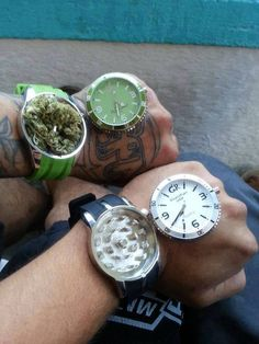 SYNCING WATCHES IN 3...2...1... ( marijuana cannabis ) http://www.pinterest.com/thathighguy
